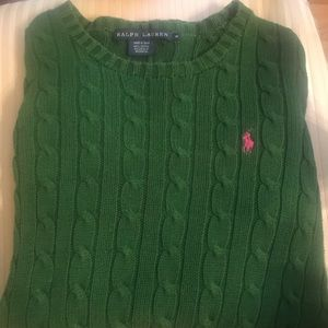 Women's Ralph Lauren green sweater